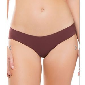 Boys + Arrows Yaya Ruched Hipster Bikini Bottom Lg